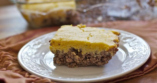 Hamburger Casserole with Cornbread Topping Gluten Free, Dairy Free