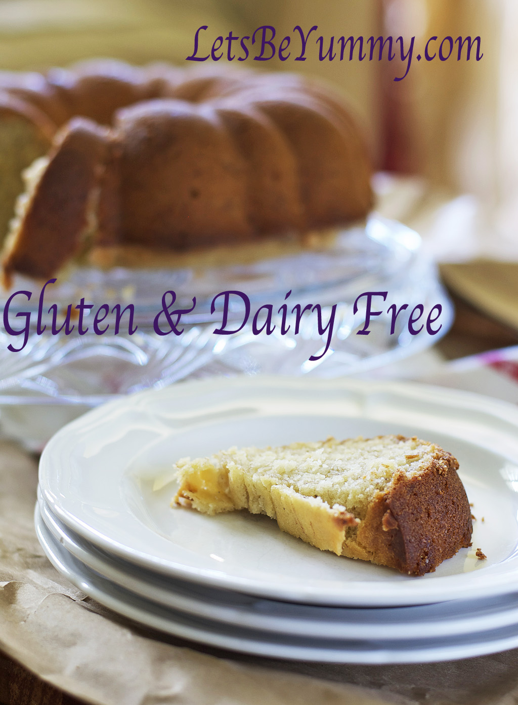 Banana Pound Cake Gluten Free Dairy Free