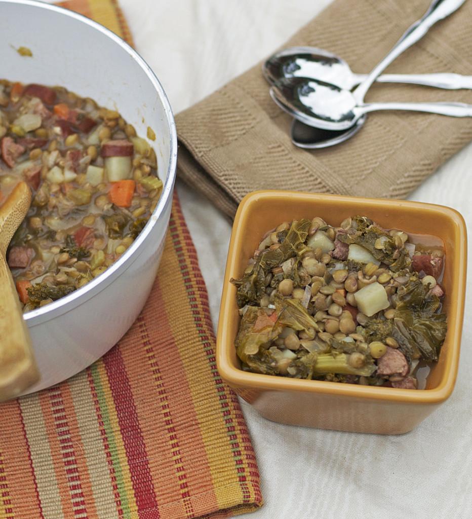 Kielbasa, Kale, and Lentil Soup Gluten Free Dairy Free
