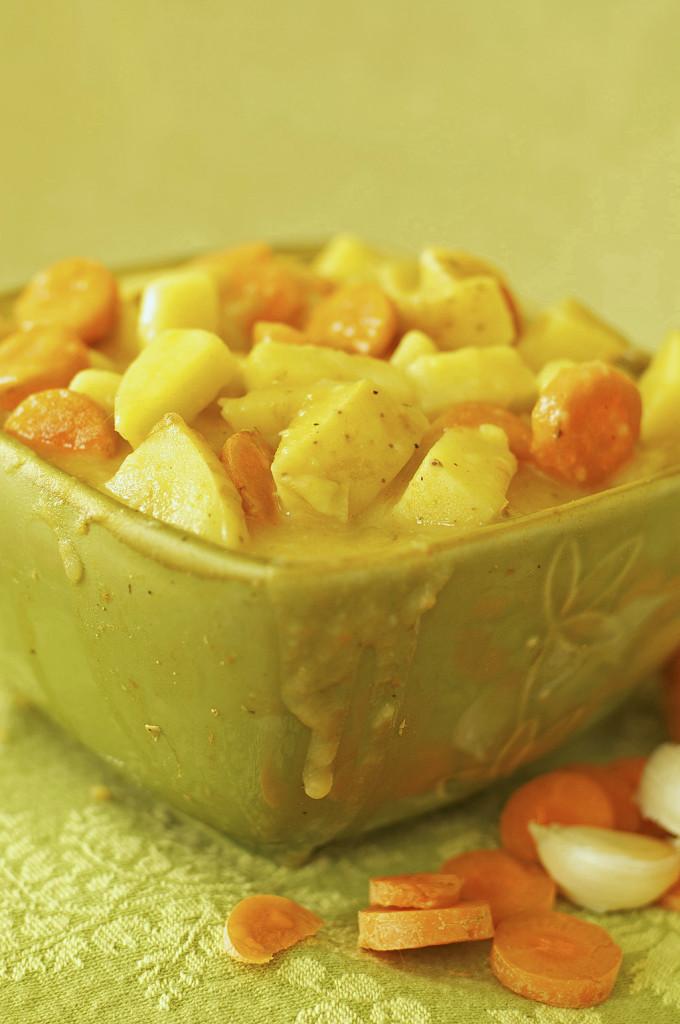 Roasted Garlic Potato Soup Dairy Free