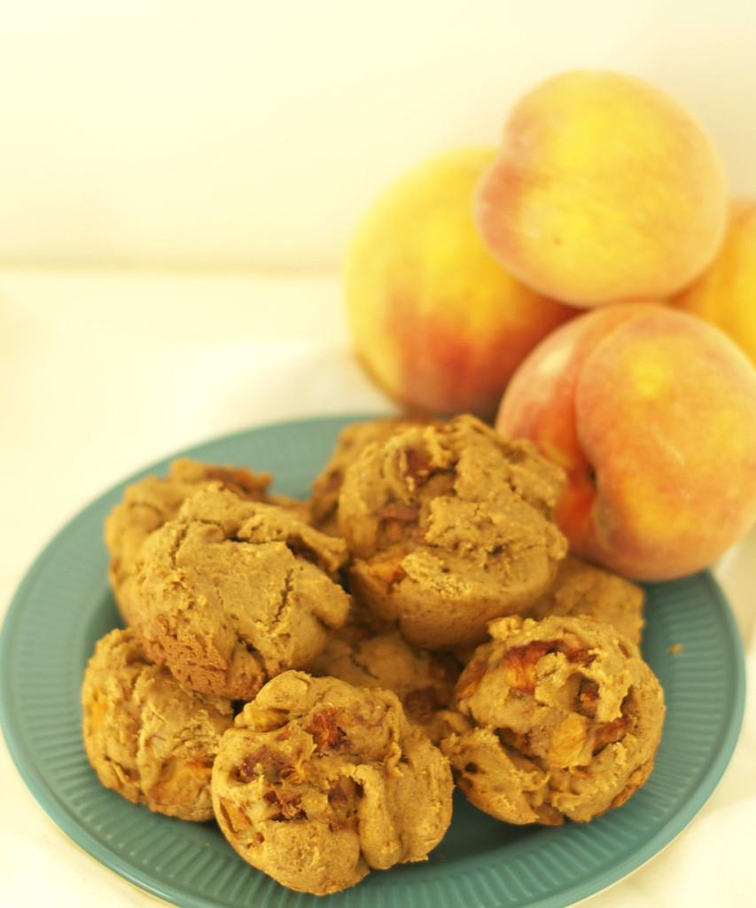 Gluten Free Dairy Free Peach Muffins