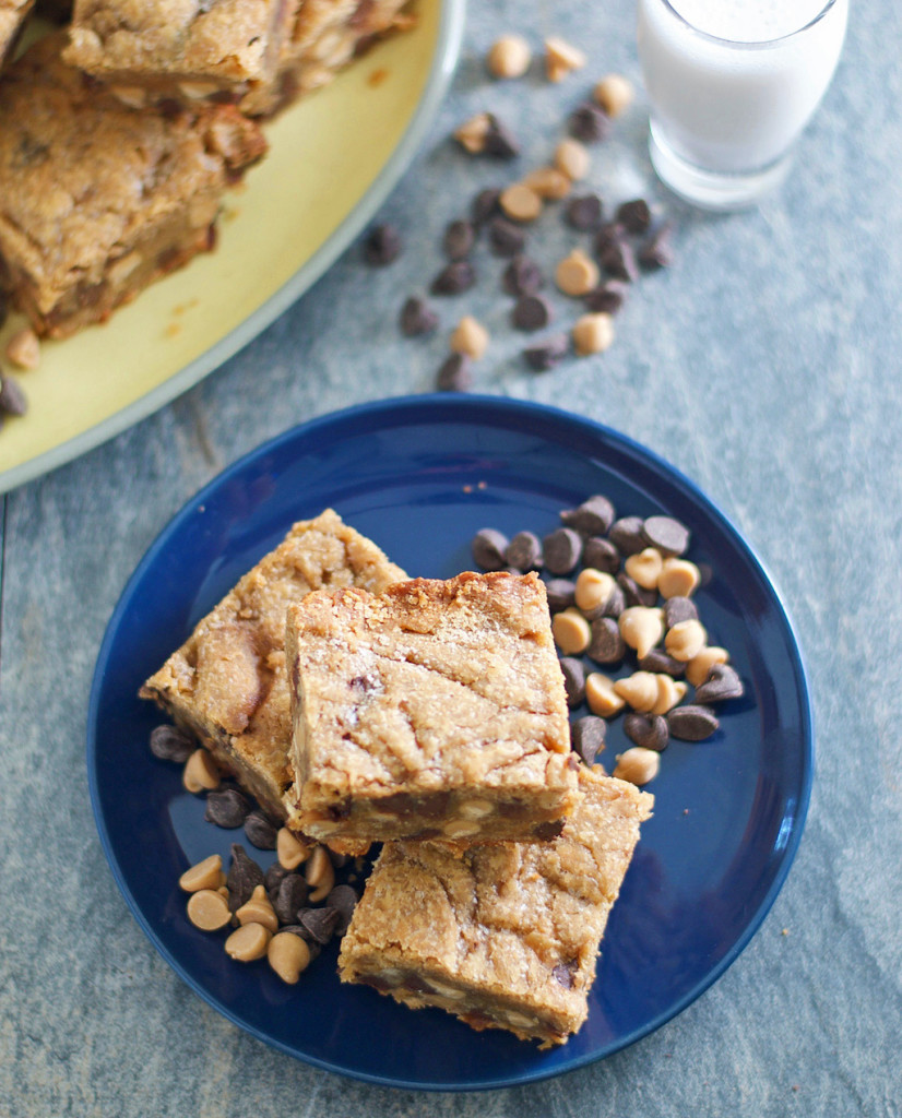 Gluten Free Peanut Butter Chocolate Chip Brownies