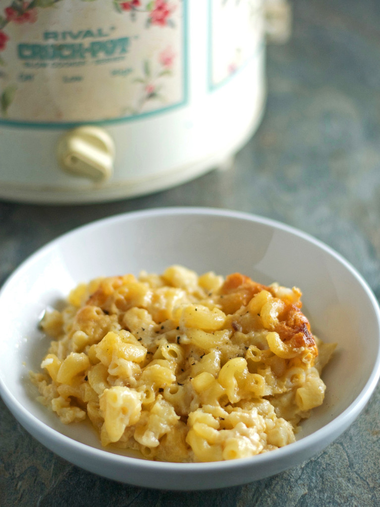 Slow Cooker Gluten Free Mac & Cheese