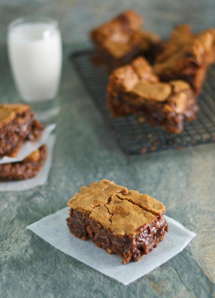 Gluten Free Caramel Nut Brownies Recipe