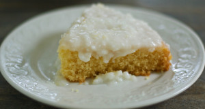 Gluten Free Sour Cream Coconut Cake Recipe