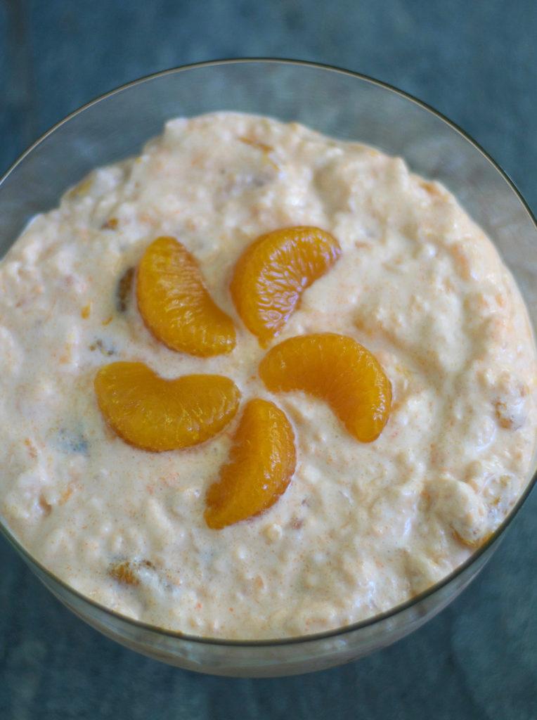 Easy Dairy Free Orange Fluff Dessert