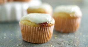 Gluten Free Lemon Cupcakes with Raspberry Jam Recipe
