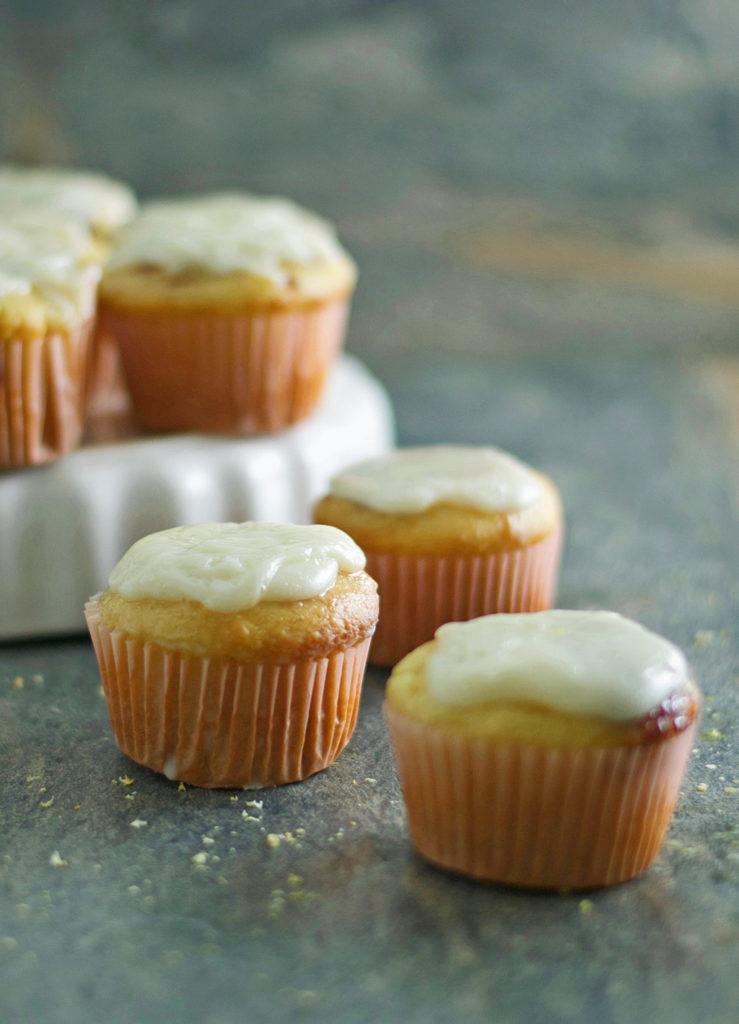 Gluten Free Lemon Cupcakes with Raspberry Jam Recipe
