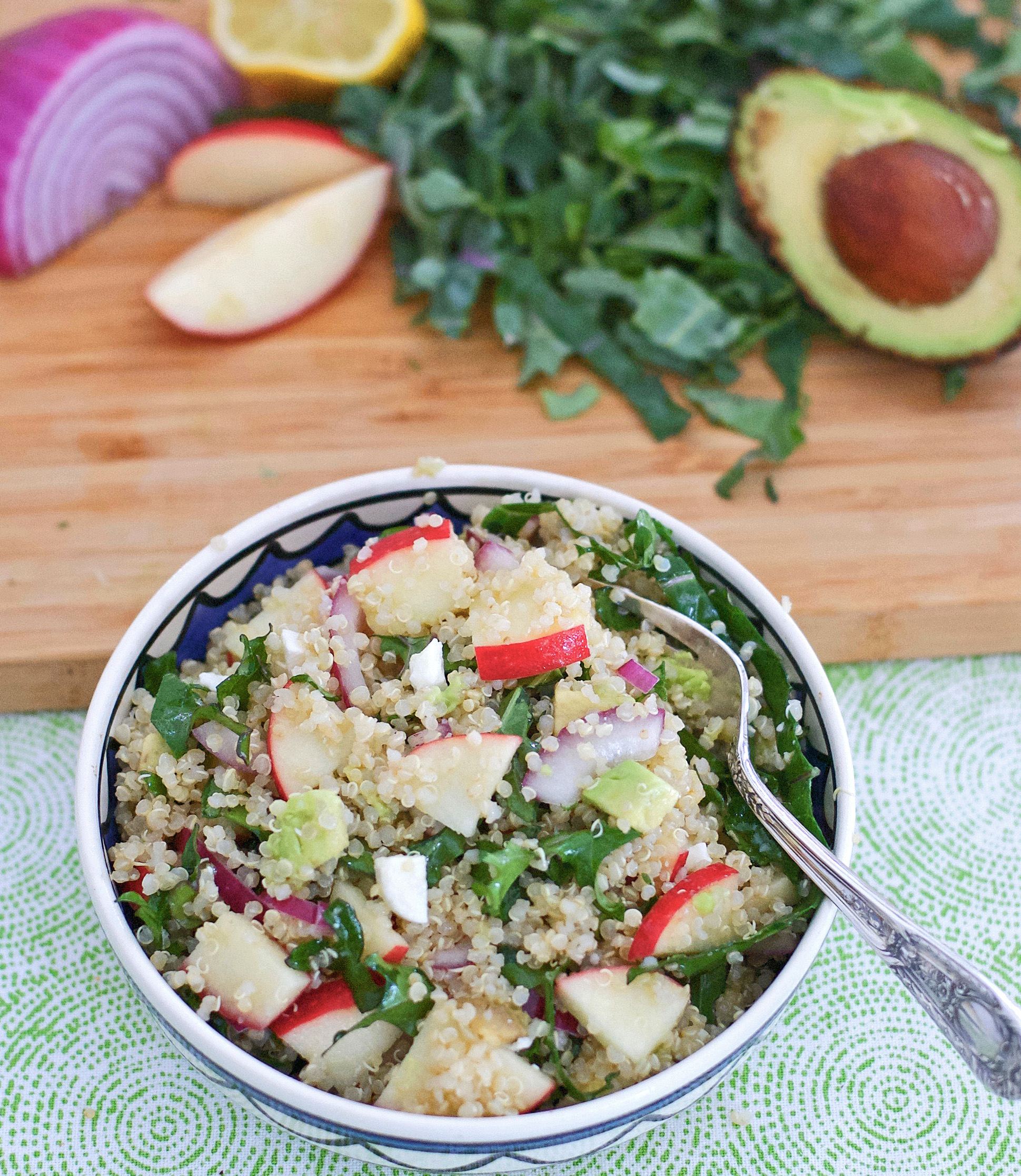 Apple Avocado Quinoa Salad Recipe
