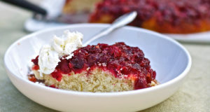 Cranberry Upside Down Cake Gluten Free